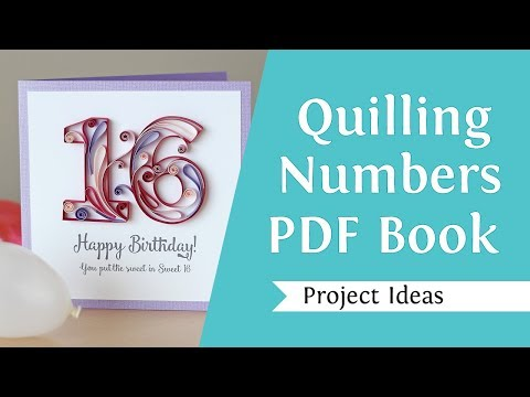 Quilling Numbers E-book, 13 Patterns And Templates For How To Quill Numbers And More