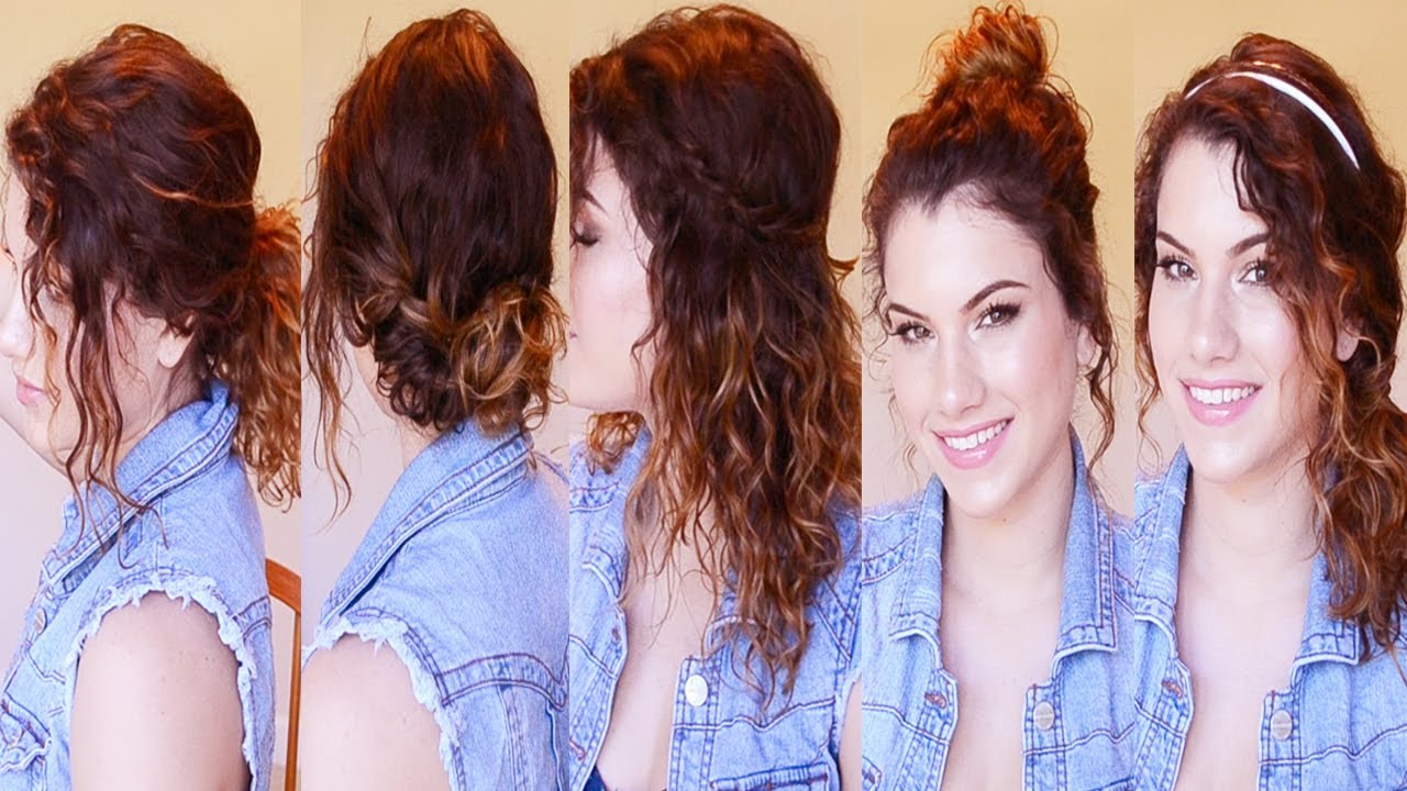 5 Back to School Curly Hairstyles (Easy & Heatless!) - YouTube