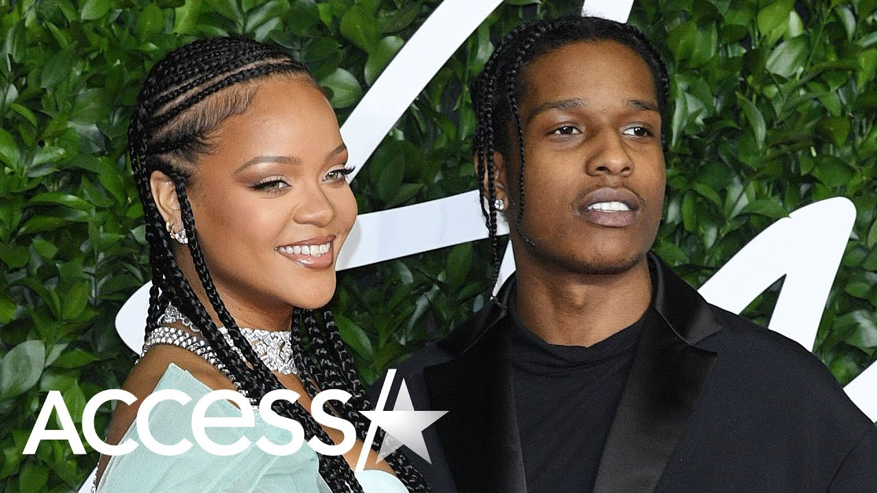 Rihanna Slays In Leg-Baring Satin Alongside A$AP Rocky At British Fashion Awards