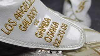 David beckham match worn boots LA galaxy vs Gamba osaka on 02.20.2008