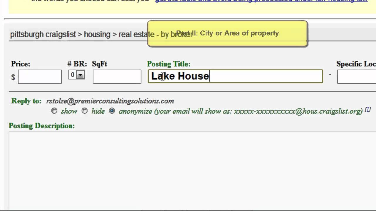 How to write effective Craigslist titles for the Real Estate For Sale boards
