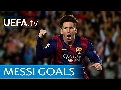 Lionel Messi's first 80 European goals