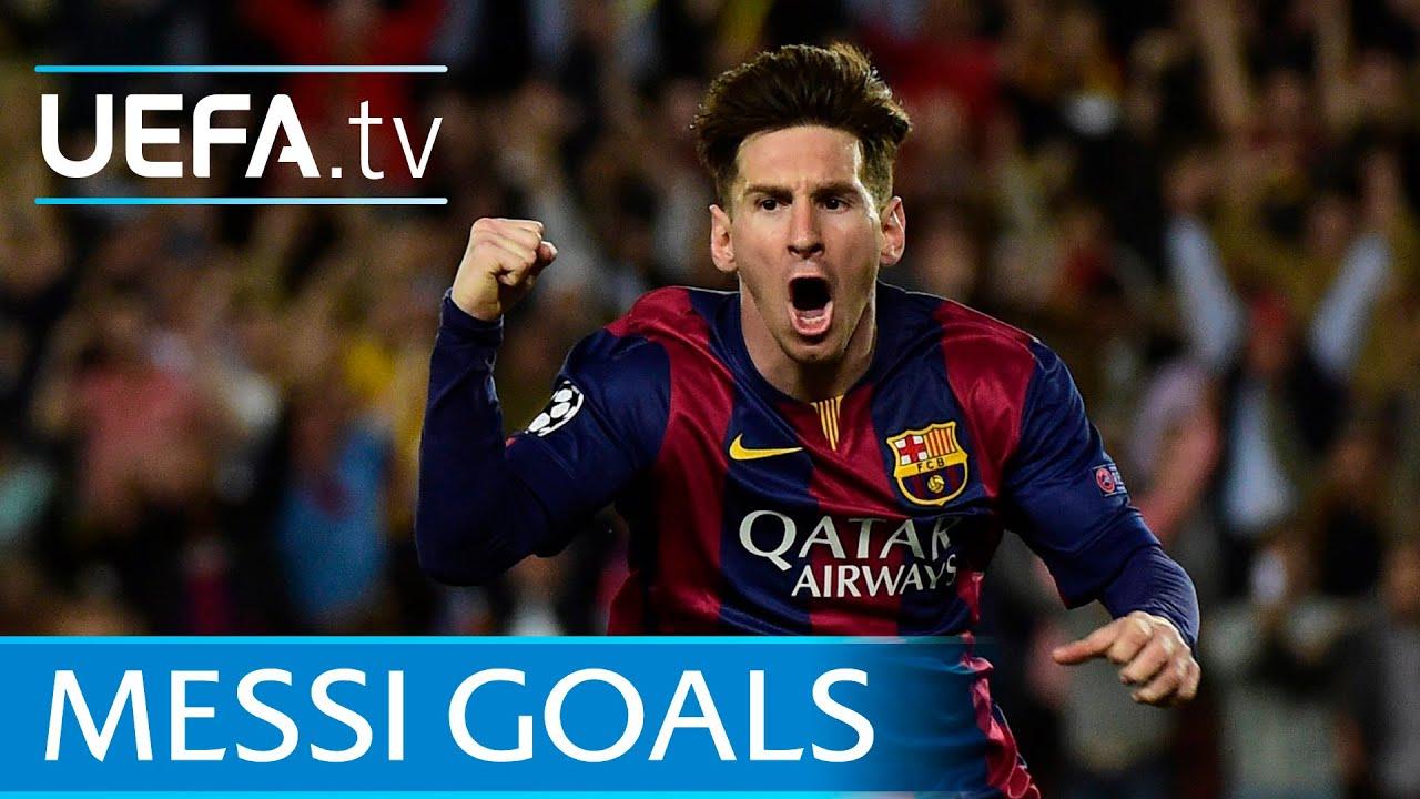 Lionel Messi's first 80 European goals - YouTube