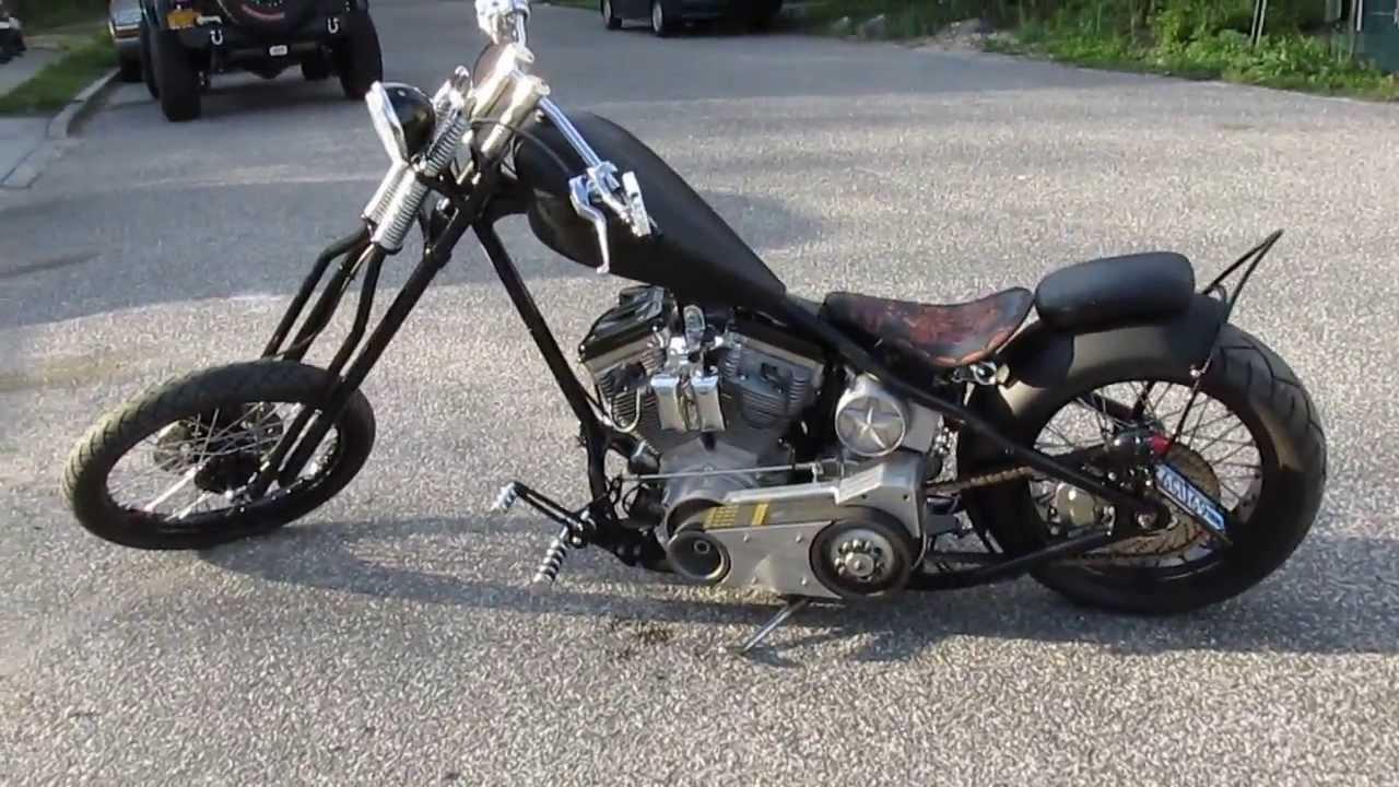 2007 Custom Chopper For Sale~Sante Frame~Flat Black~100\