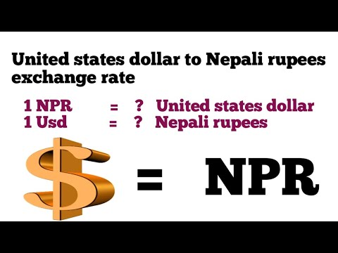United States Dollar To Nepali Rupees Exchange Rate |usd To Npr|dollar To Npr