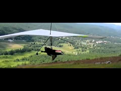 Super Slo-mo Hang Glider Foot Launch
