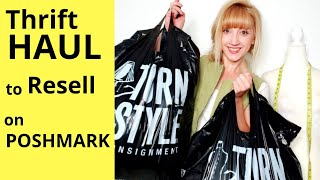 Thrift Haul to Resell for Profit on Poshmark  Consignment Store Sale Haul   Making Money Online