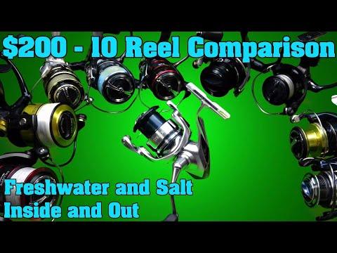 $200 Spinning Reel Buying Guide.  Teardown, Comparison, And Review. Shimano, Daiwa, Abu Garcia, Penn