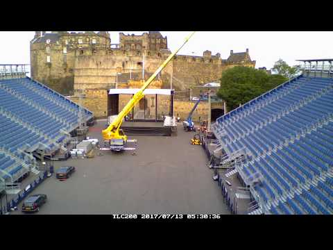 Edinburgh Castle Concerts load in timelapse 2017