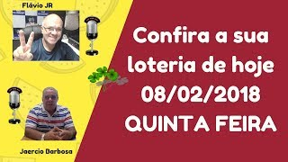 Resultados - 08/02/2018 - Quina Concurso 4602 - D. SENA 1754 - Timemania 1142 - Mega SENA - 2012