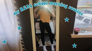 my real school morning routine!