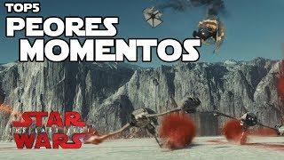 TOP5 Peores momentos de los Ultimos Jedi - Star wars en español
