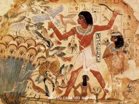 Pintura egipcia youtube for Mural egipcio