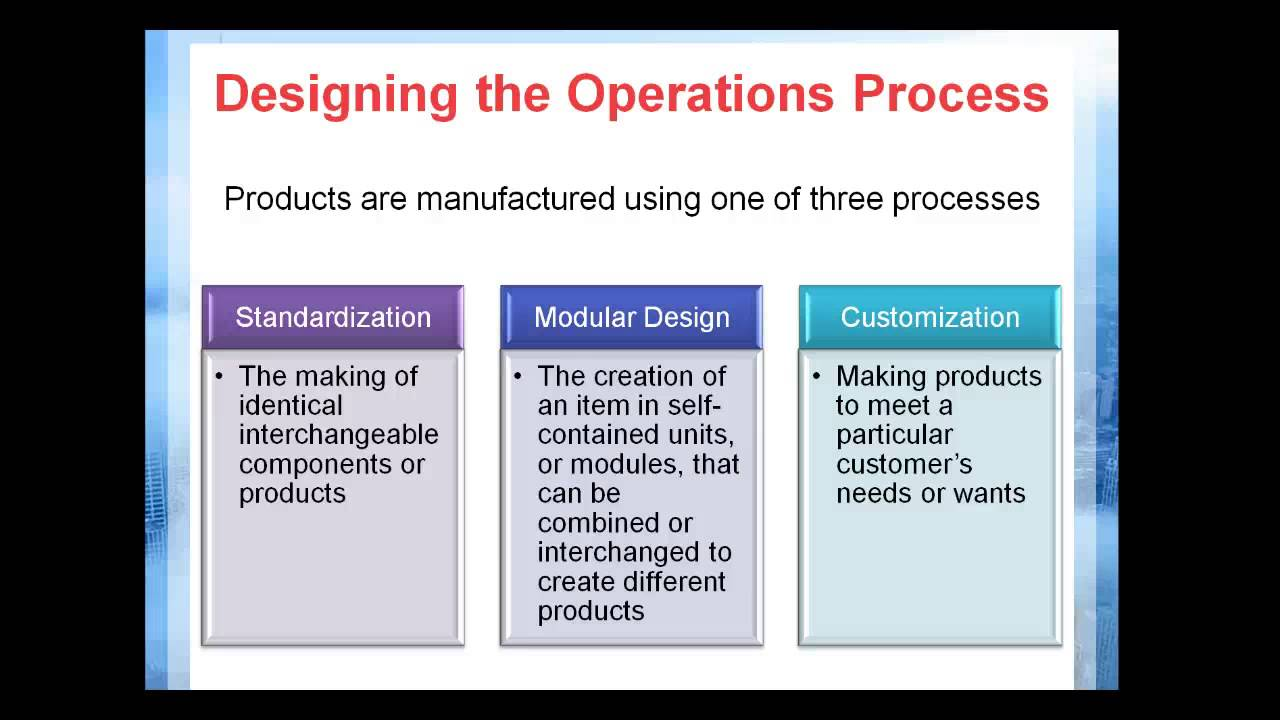 Managing Service And Manufacturing Operations Youtube