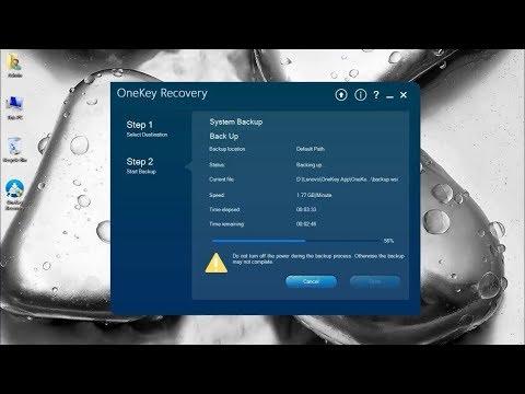 Lenovo OneKey Recovery 8 0 Engineering Install Backup