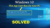 this app cant run on your pc windows 8.1 64 bit