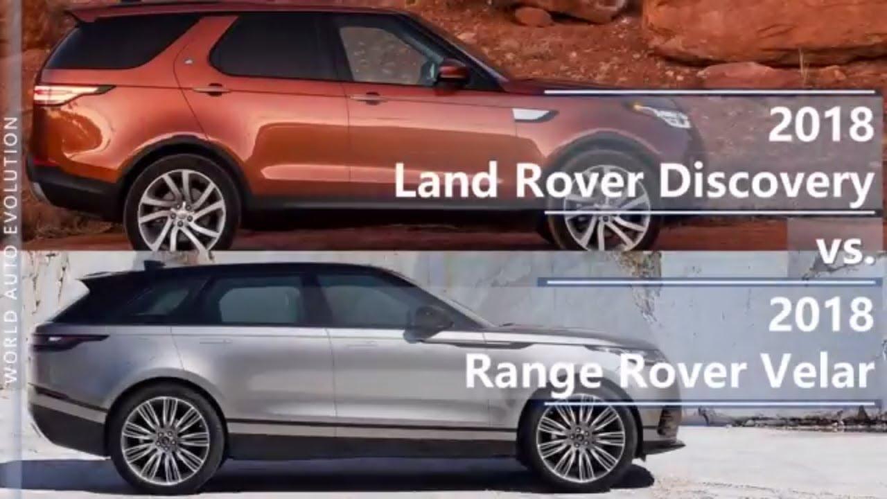 Range Rover Vs Land Rover >> 2018 Land Rover Discovery vs 2018 Range Rover Velar ...