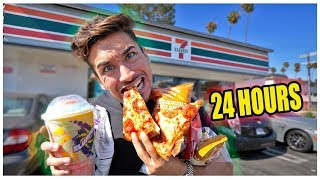 I only Ate 7-Eleven Food For 24 hours ... (IMPOSSIBLE FOOD CHALLENGE)