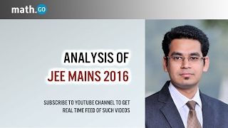 JEE Mains 2016 Analysis