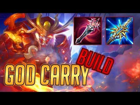 RYOMA JUNGLE INSANE CARRY BUILD! [SO MUCH DAMAGE] | Arena of Valor Ryoma Build and Arcana -Liên Quân