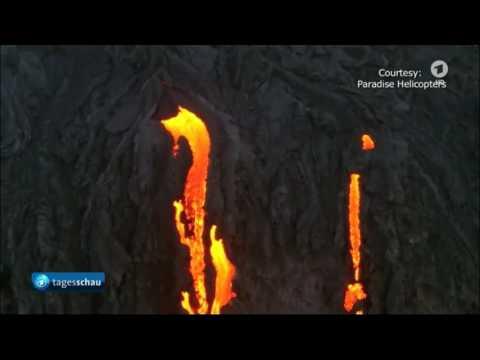 Gruseliges Smiley Aus Lava Auf Hawaii