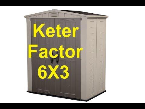 Keter Factor 6x6 כתר פלסטיק מחסן פקטור How To Build Gar