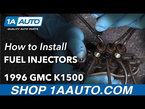 How to Install Replace CFI Fuel Injectors 1996-99 GMC Sierra K1500 V8 5.7L