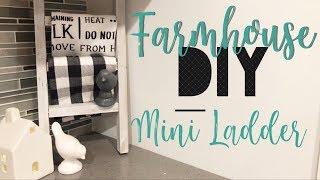 DIY FARMOUSE DECOR || FARMHOUSE LADDER || UNDER $10!