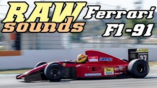 RAW sounds - Ferrari F1-91 643 at Hockenheimring