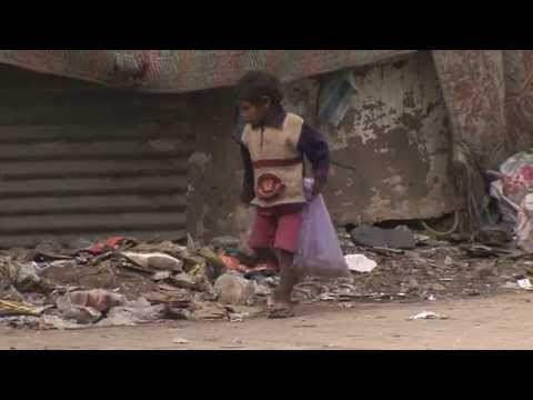 Orphaned and abandoned children on the streets of India