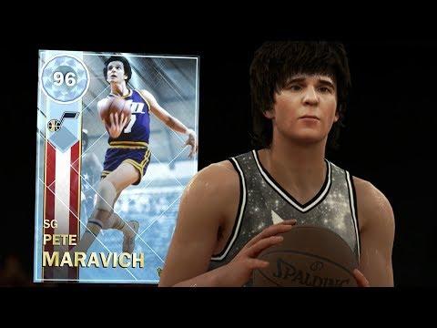 DIAMOND PETE MARAVICH CRAZY GAMEPLAY!! AMETHYST GOALS REWARD! (NBA 2K18 MYTEAM)