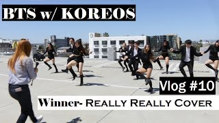 FILMING A KPOP DANCE COVER Ft. Koreos [Vlog#10]