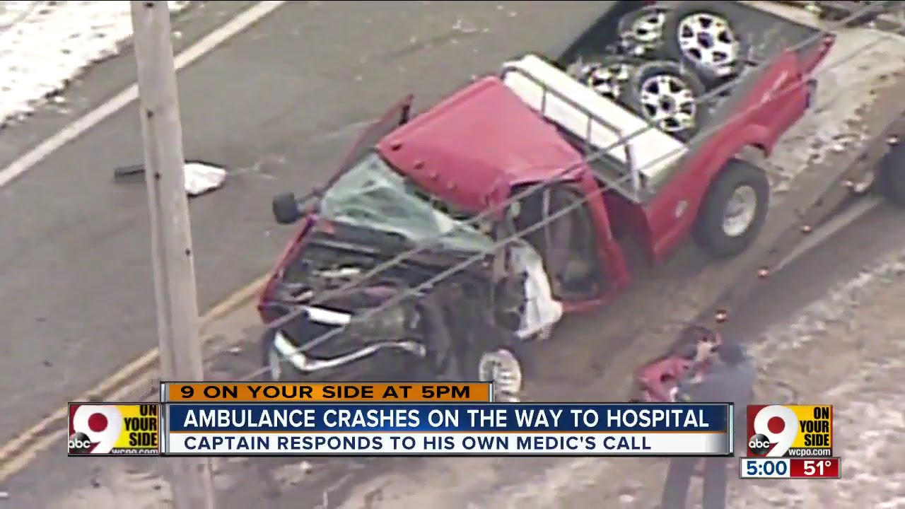 Pickup truck crashes into Lebanon ambulance carrying patient