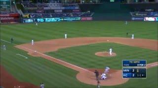 MIN@KC: Byung Ho Park crushes his first MLB homer