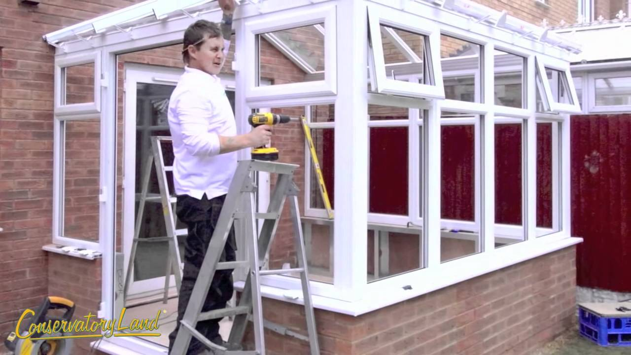 full conservatory installation building a conservatory youtube. Black Bedroom Furniture Sets. Home Design Ideas