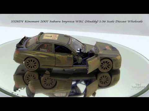 5328DY Kinsmart 2007 Subaru Impreza WRC Muddy 136