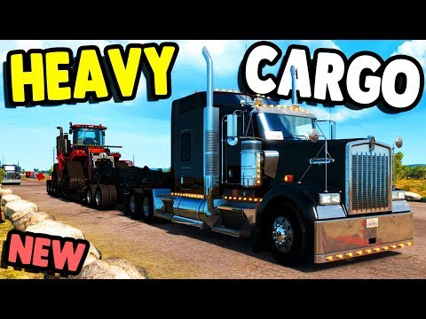 Hauling Big Cargo with Lots of Power | American Truck Simulator Gameplay