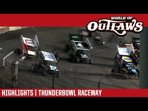 World of Outlaws Craftsman Sprint Cars Thunderbowl Raceway March 18, 2017 | HIGHLIGHTS