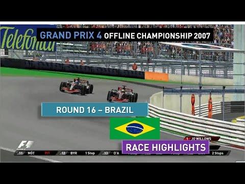 Grand Prix 4 OC 2007   Round 16   Brazil   Race Highlights