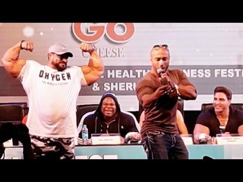Roelly Winklaar | Shredded Diesel | Kai Greene | Brian Shaw | Sahil Khan @ Sheru Classic 2016 Mumbai