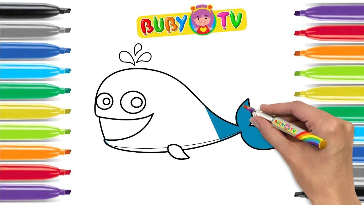 Videoperbambini Disegniperbambini Impara A Disegnare Una Balena