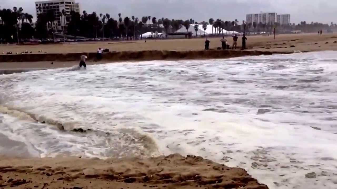 Huge Waves In Santa Monica California