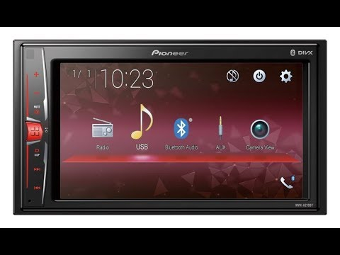 PIONEER MVH-A219BT CAR TOUCH SCREEN UNBOXING