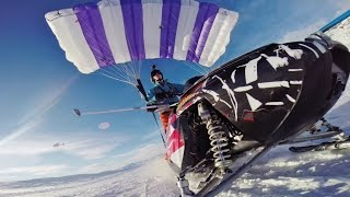 Flying snowmobile - 1,5km High mountain