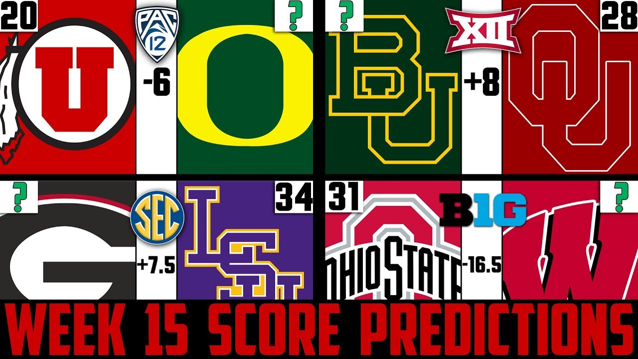 College Football Playoff picks after Championship Week