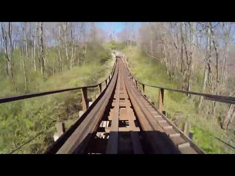 [10 Hours] Endless Wooden Roller Coaster - Video & Audio [1080HD] SlowTV
