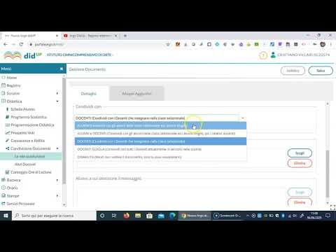Tutorial Argo DidUp - Impostazioni di Condivisione documenti
