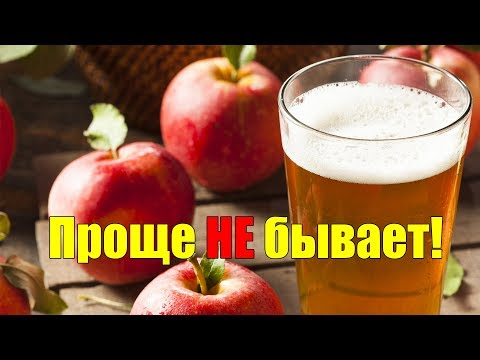 Как приготовить яблочный сидр из яблочного сока