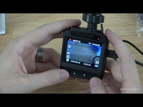 BESTEK 1080p Car Camcorder Video Recorder with 140° Wide Angle 360° Rotating 2.4