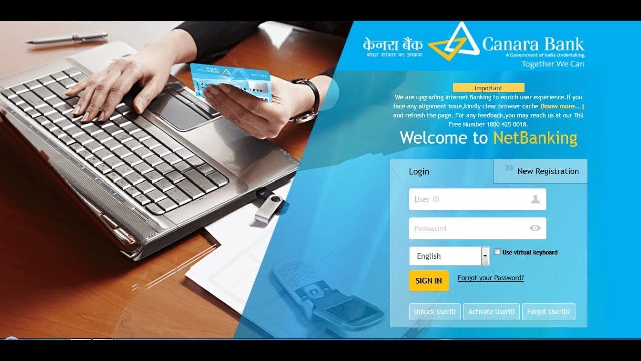 canara bank internet banking online application form xls